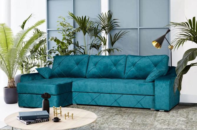 Crystal 2 Corner Sofa Bed